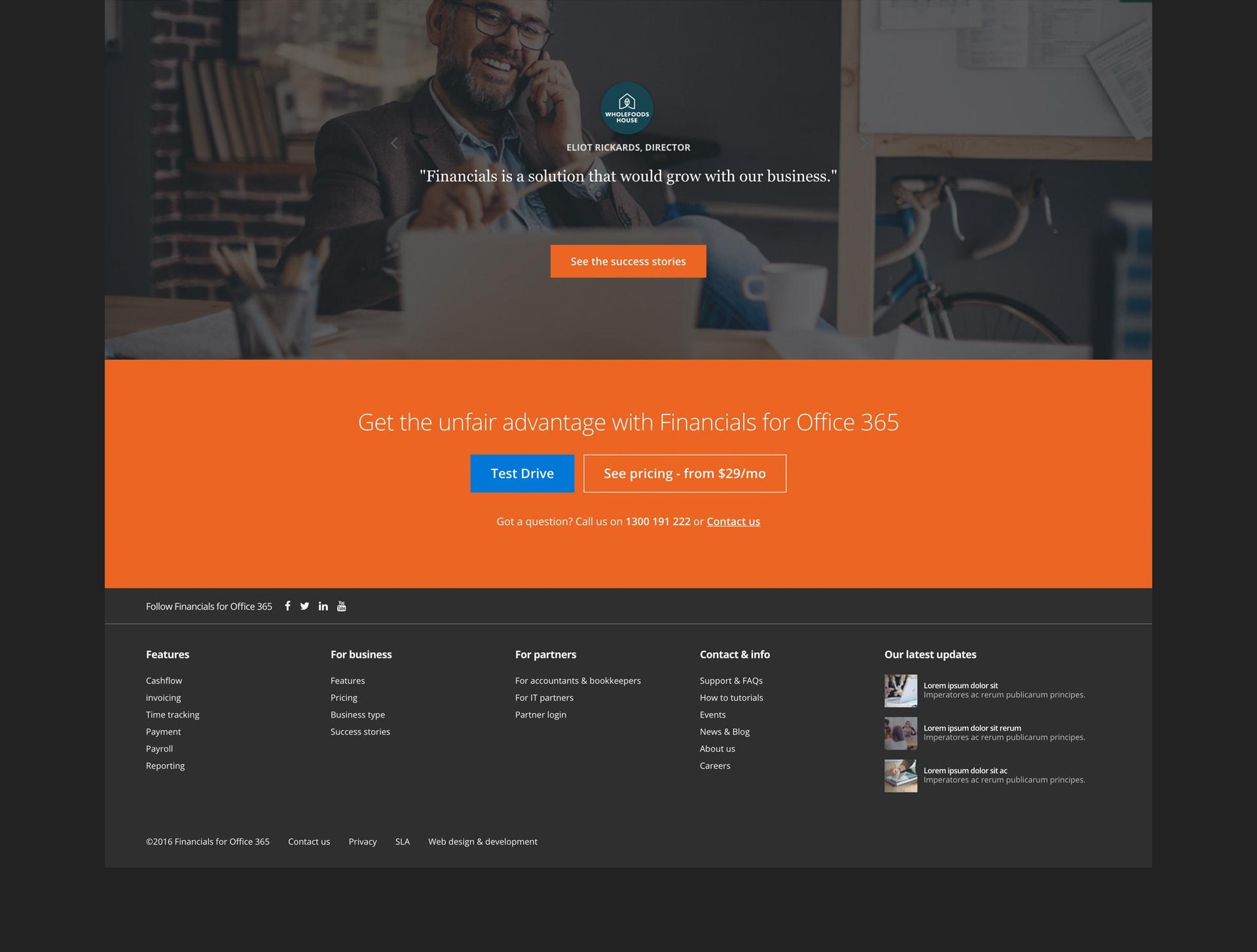 web design and development company mockups