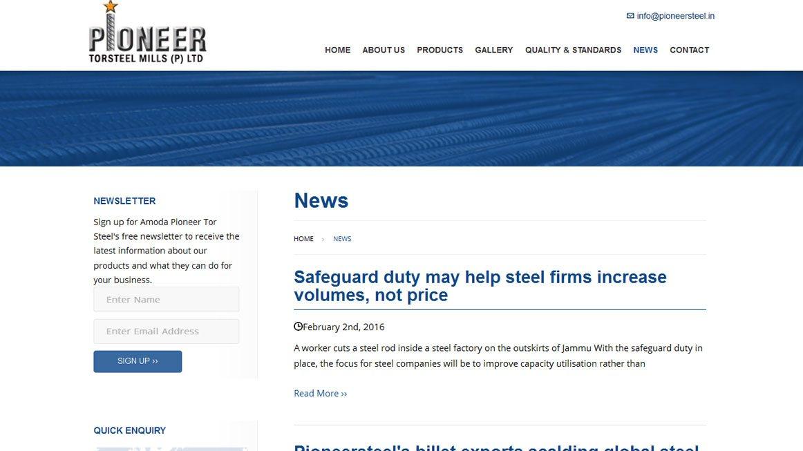 Best tor steel production Websites Portfolio | Best Gallery